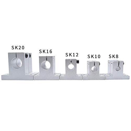 4 Stück SK8 SK10 SK12 SK16 SK20 8 mm Lineare Kugellagerschiene Wellenstange Seitenblöcke Unterstützung XYZ Tisch CNC 3D-Druckerteil 3D-Druckzubehör (Größe: SK16) (Size : SK8)
