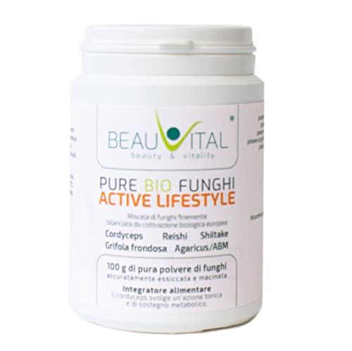 Pure Bio Funghi Blend Active Lifestyle 100g Cordyceps, Reishi, Agaricus blazei, Maitakeaus, Shiitake...