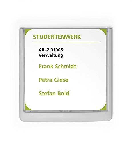 Durable 486202 Click Sign Türschild (149 x 148,5 mm, zum Ankleben oder Anschrauben) weiß