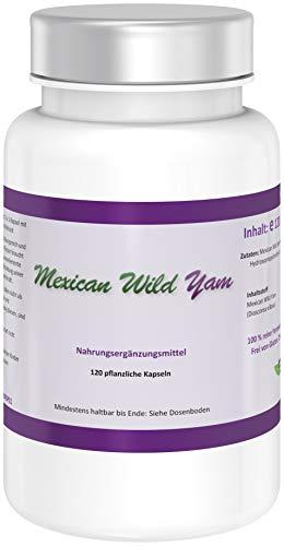 Mexican Wild Yam | Das Original Produkt | Kein Extrakt | Komplette kaltvermahlene Wurzel | von NATURE POWER | 120 pflanzliche Kapseln | gentechnikfrei und vegan