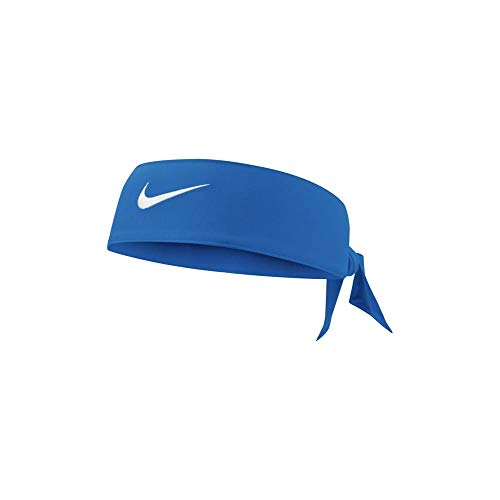Fascia Tennis NIKE Dri-Fit Head Tie Swoosh capelli FEDERER NADAL Game Royal White