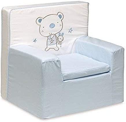 pirulos 32013013 nbsp   nbsp Armchair  Design Bear Star  Cotton  52 nbsp x 49 nbsp x 27 nbsp cm  White and Blue