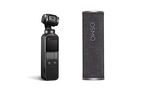 "DJI Osmo Pocket - Handheld 3-Axis Gimbal Stabilizer with Integrated Camera 12 MP 1/2.3"" CMOS 4K Video with Charging Case Bundle"