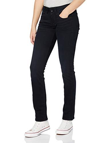 G-STAR RAW Damen Jeans Midge Saddle Mid Waist Straight, Dk Aged 8971-89, 23W / 30L
