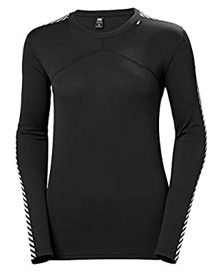 Helly Hansen Women's HH LIFA Lightweight Long-Sleeve Crewneck Thermal Baselayer Top, 990 Black, Small