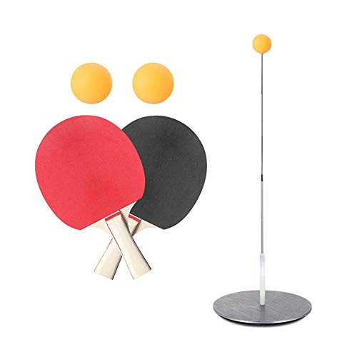 Lowest Price! Table Tennis Trainer with Elastic Soft Shaft,Ping Pong Training Tools Toy Set with 2 T...