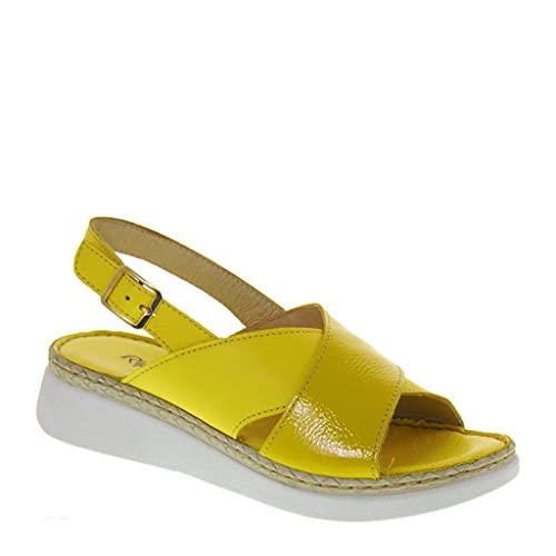 Riposella 16206 - Sandalias de moda para mujer, de piel, con