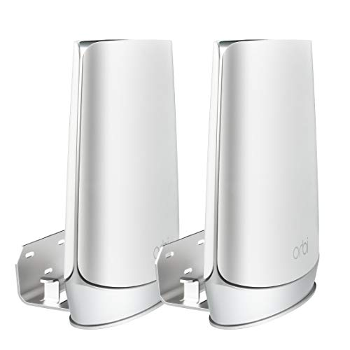 STANSTAR Metal Wall Mount for ORBI WiFi 6 System, Sturdy Wall Mount Holder for RBK752 RBK852 RBK853 RBS850 RBR750 RBS750, Space Saving, Cord Management Without Messy Wires.(2Pack)