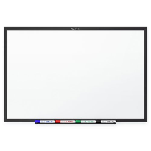 Price comparison product image Quartet Whiteboard,  Non-Magnetic Dry Erase White Board,  3' x 2',  Total Erase,  Black Aluminum Frame (S533B)