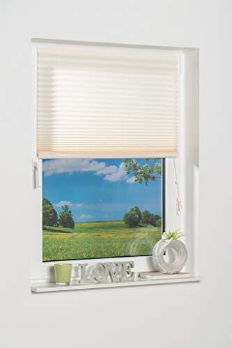 K-home Klebe-Plissee Creme Lichtschutz, 70 x 130 cm (B x L)