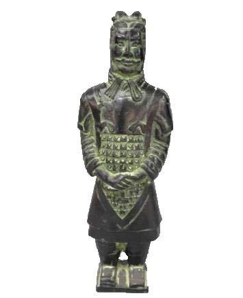 Fashion158 Bronzefigur Qin Terra-Cotta Krieger und Pferde Soldat Statue antike Samurai Statue