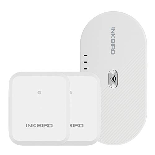 Inkbird Wireless Temperature Monitor One Set of 2 ITH-20R Transmitters and IBS-M1 WiFi Gateway Supports Wireless Connection with Save and Export Data Real Time Remote Alert