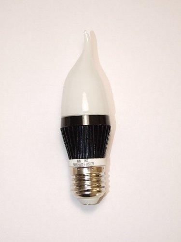 3W (3x1W) E27 220V-240V LED-lamp, Frosted Flame Light Bulb (high), dimbaar (trailing Edge dimmer switch en LED dimmer Switch) - Chandelier, 25W Equivalent; LED-lampen, dimbaar (LED dimmer)