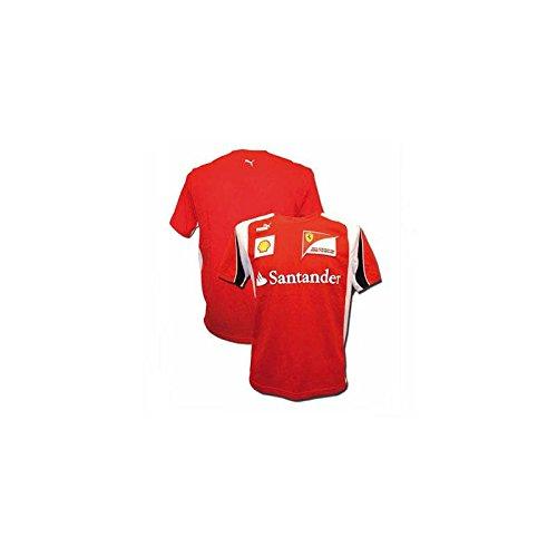 FERRARI Camiseta Hombre Escuderia Rojo Talla S
