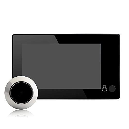 BAOZUPO Timbre Inteligente Mejorado, cámara con Video 1080PWiFi Timbre de visión Nocturna inalámbrico Inteligente de 4.3 Pulgadas, Tienda de Oficina en casa