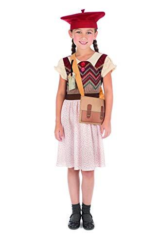Bristol Novelty Evacuee Schoolgirl Costume, Age 8 - 10 years old