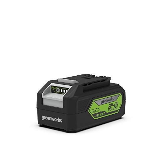 Greenworks Tools Akku G24B4 (Li-Ion 24V 4 Ah wiederaufladbarer leistungsstarker Akku passend für alle Geräte der 24V Greenworks Tools Serie)