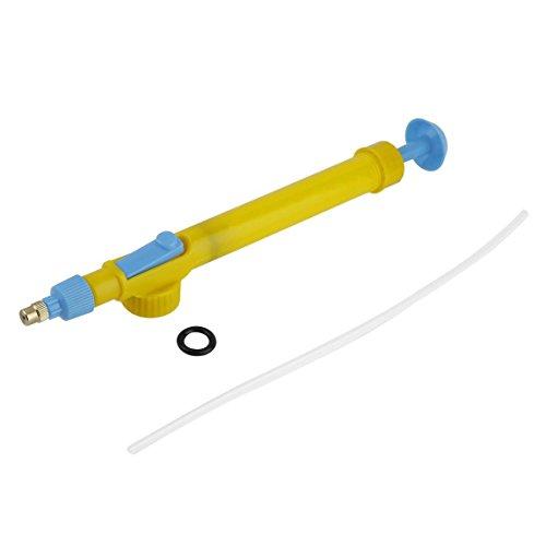 SeniorMar-UK Patio decoración Mini Botellas de Jugo Interfaz Carro Pistola pulverizador Cabeza presión de Agua plástico Agua pesticida pulverización 29 x 3 x 4 cm