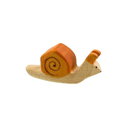 Holzspielwaren Ackermann Schnecke aus Holz – Wald Holzspielzeug, aus Schwäbischer Handarbeit (100% ökologisch)