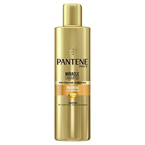 Pantene Pro-V Miracle Shampoo Protezione Cheratina Rigenera e Protegge per Capelli Secchi, Opachi e Danneggiati, 250 ml