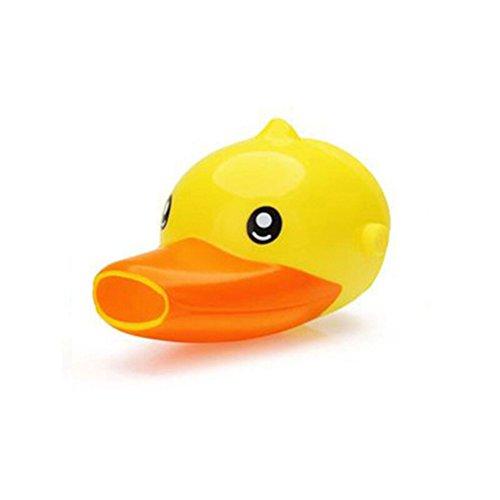 OUNONA Grifo Extender para Lavado de Manos Ayuda Niños Bebé Grifo Alargador Animal (Pato amarillo)