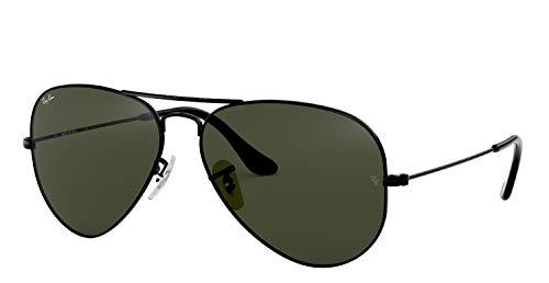 Ray-Ban RB3025 Aviator Sunglasses (58 mm, Gold Metal Frame/Non-Polarized Green G-15 Lens)