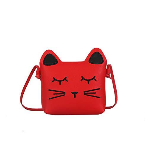 Gjyia kleine meisjes portemonnee roze schattige kat schouder schoudertas voor kinderen, peuters, meisjes