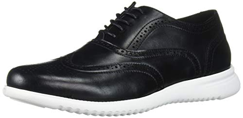 Unlisted by Kenneth Cole Men's Nio Hybrid Wing Lace Up Oxford, Black, 10.5 M US