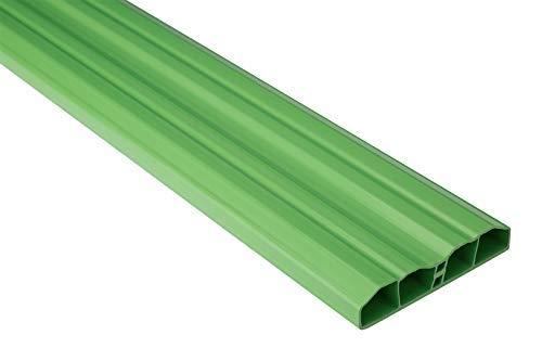 Zaunlatten Sparpaket PZL-16   widerstandsfähiges Hart-PVC   Kunststoffzaun   Balkonbretter   pflegeleicht   grün bunt   80 x 16 mm   Hexim   10 Meter