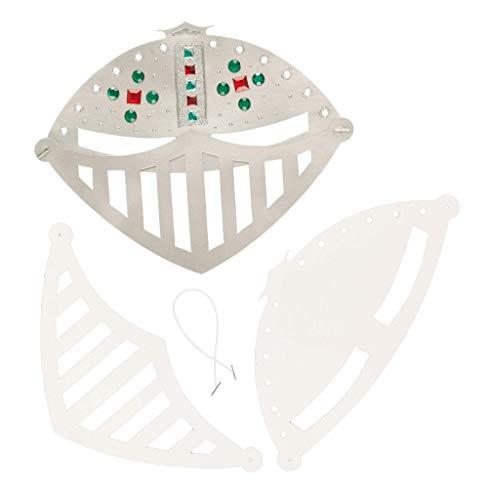 Baker Ross EV2822 Ross Masken zum Basteln und Ausmalen - Ritterhelm - für Kinder ideal zum Kindergeburtstag und Karneval - 6 Stück