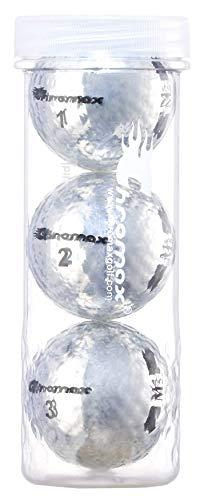Chromax M5 Golfbälle, metallisch, farbig, 3 Stück
