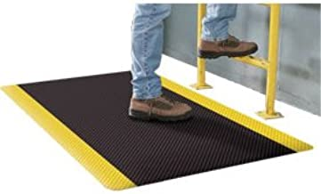 product image for Apache Mills Supreme Sliptech Mat, 24x36, Black W/Yellow Border