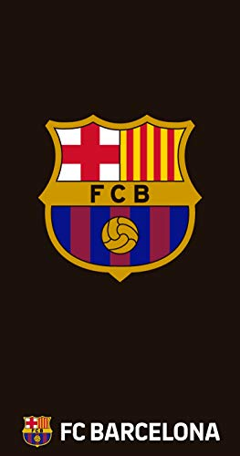 TEXTIL TARRAGO Toalla de Playa FCB Futbol Club Barcelona Barça 70x140 cm 100% Algodon Licencia Oficial FCB FCBTP2