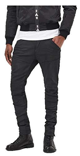 G-Star5620 Afrojack Zip 3D SUPER Slim - Jeans Skinny Fit - Black pintt Stretch Denim
