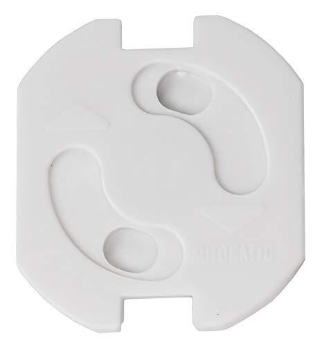 ChiliTec Kindersicherung für Steckdosen 20 Stück zum Kleben I Kinderschutz für Steckdosen I Steckdosen-Absicherung I erhöhte Sicherheit I Dreh-Mechanik I Weiß