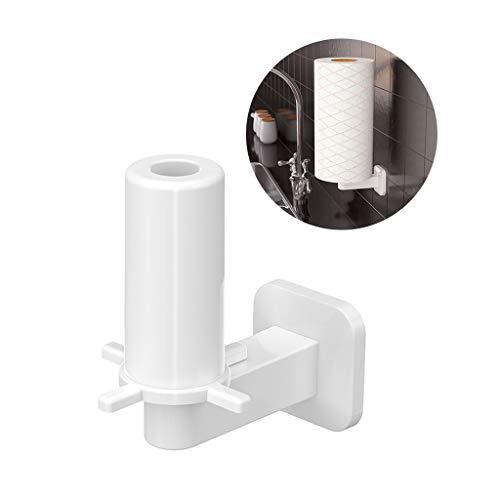 JSxhisxnuid rolhouder kunststof papier handdoekhouder wandmontage papierrolhouder voor keuken badkamer, keukenrolhouder zonder boren keukenpapierhouder