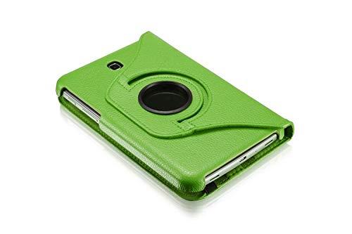 QiuKui Tab Funda para Samsung Galaxy Tab 3 7.0 SM-T210 T211 P3200, 360 Rotation Smart PU Stand Case para Samsung T210 P3200 (Color : Verde)