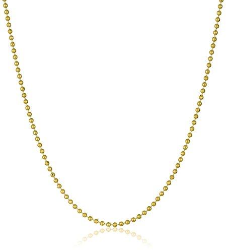 """Collier de perles légères en or jaune 14k, 0.9mm, 16"""" - 0"""
