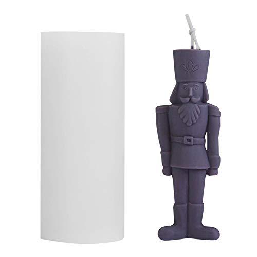 König Kerze Silikonform,3D Vereinfachen Menschlicher Typ Kerzenform,Nussknacker Duftende Kerze Silikonform für Seife Kerze Schokolade Süßigkeiten und Andere DIY