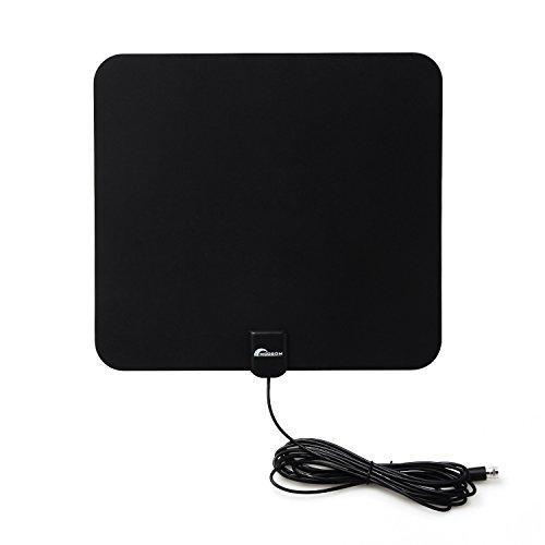 VKTY HDTV-Antenne, TV-Antenne, digital verstärkt, für den Innenbereich, HD bis zu 80 km Reichweite, HD freie lokale Kanäle, unterstützt alle Fernseher