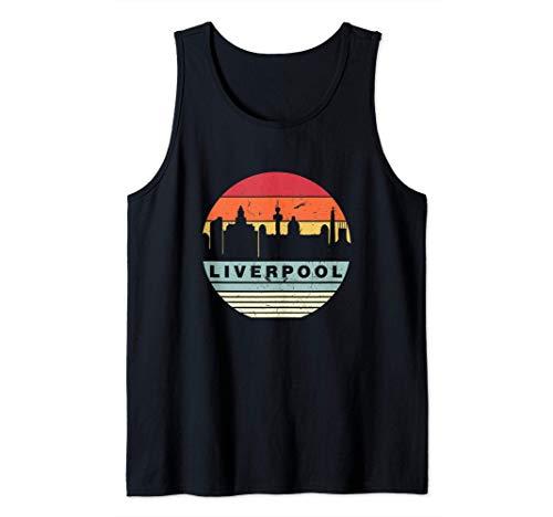 Retro Vintage A Juego Con De Liverpool Camiseta sin Mangas