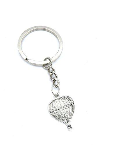 schmuck-stadt Ballon Schlüsselanhänger silberfarben Modeschmuck