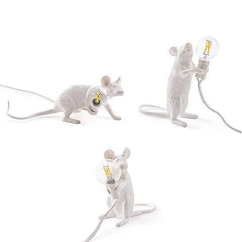 Bureaulampen tafellampen mini-hars ratte muislamp LED-lamp moderne kleine muizen leuke LED bureaulamp Home Desk Lights tafel- en bedlampjes