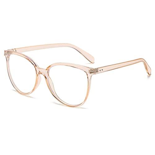 Gafas de Lectura, 2021 Gafas de Bloqueo de luz Azul de Gran tamaño for Mujeres, luz Anti Azul, anteojos de computadora (Color : PGJ018 x, Size : 0)