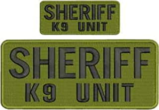 Search and Rescue K9 UNIT embroidery patches 4x10  hook yellow od