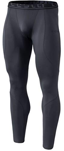 TSLA Men's Thermal Wintergear Compression Baselayer Pants Leggings Tights, Thermal Athletic(yup43) - Grey, Medium