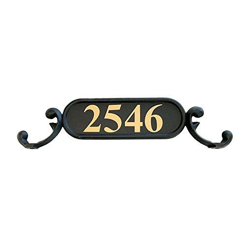 Includes Address Plaque House Numbers Hardware Large Black Aluminum Decorative Mailbox Pineapple Finial Addresses of Distinction Hampton Mailbox with Post Combo