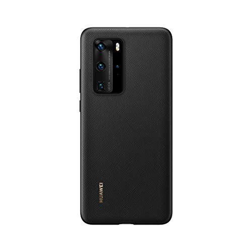 Huawei P40 Pro PU Custodia Cellulare, Accessorio Originale, Nero