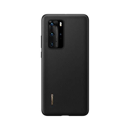 Huawei P40 Pro PU Funda Celular, Accesorio Original, Negro