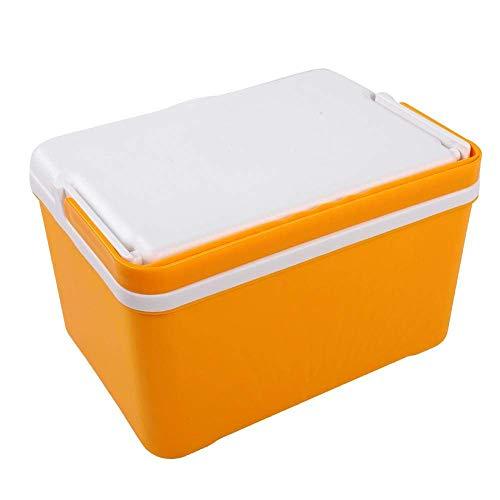 Lunch Box Praktische Thermo-Frischhaltedose, 12L Tragbare Outdoor-Frischhaltedose für EIS, Reisekühler, Aufbewahrungsbox für Picknick im Freien, Aufbewahrungsbox gelb